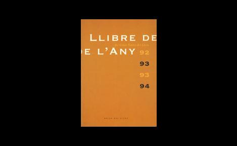 Llibre De L'any 1992-1993 I 1993-1994