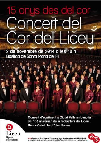 Concert Del Cor Del Liceu A Santa Maria Del Pi