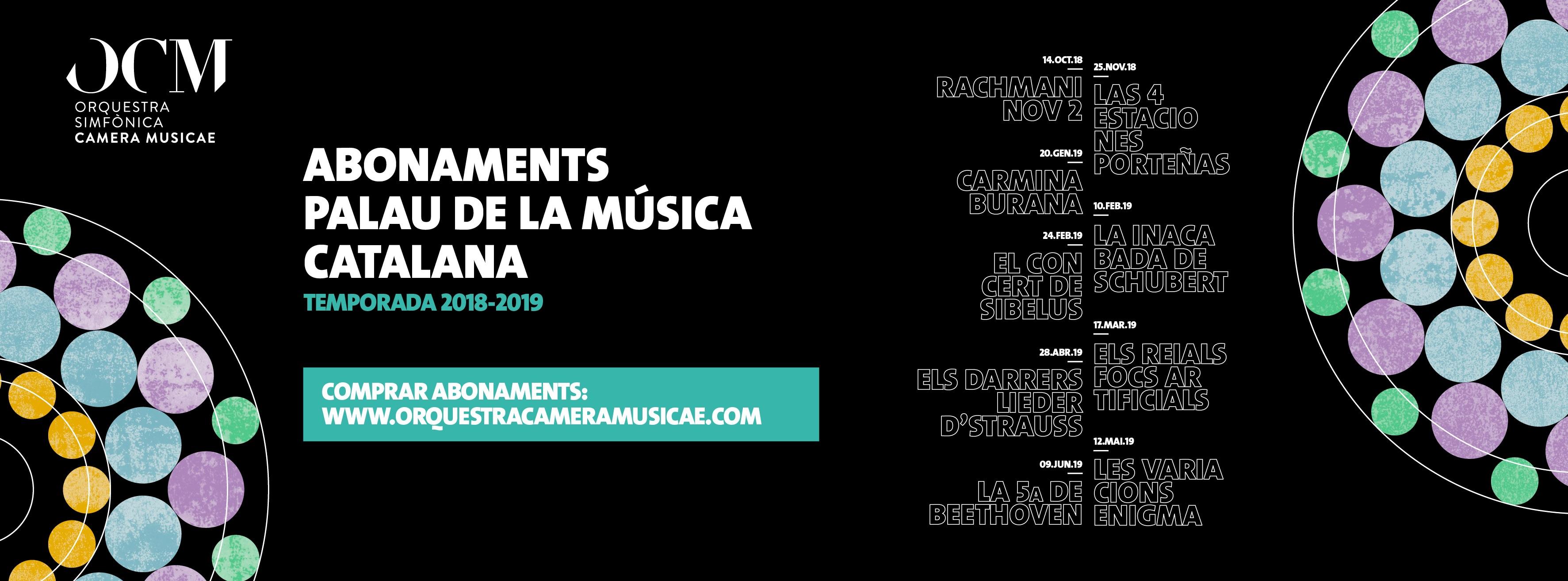 Descompte Concerts I Abonaments Orquestra Camera Musicae