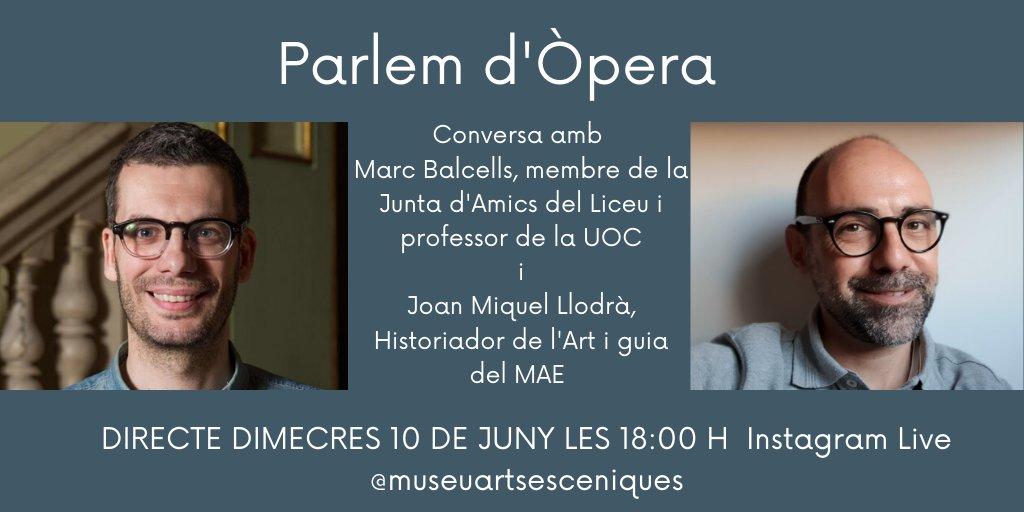 El Museu De Les Arts Escèniques I Els Amics Del Liceu Parlem D'òpera!