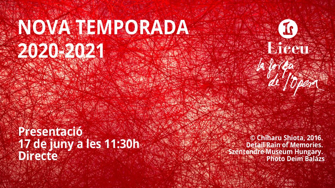 Presentación De La Temporada 2020-2021 Del Gran Teatre Del Liceu