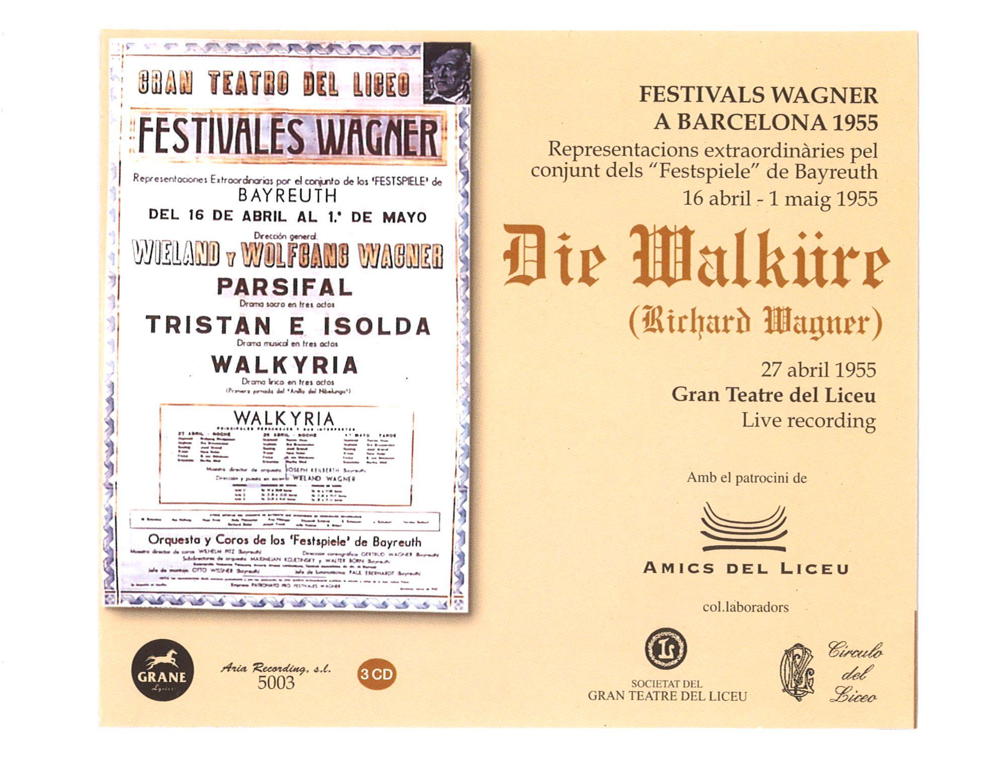 Die Walküre Del Festival De Bayreuth De 1955 Al Liceu Disponible A Spotify